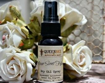 PINK CHIFFON- Dry Oil Body Mist - Silky Perfume Spray - Hair/Body Safe