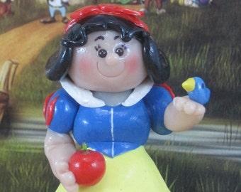 Snow White for fairy garden, OOAK, Disney princess, miniature figurine