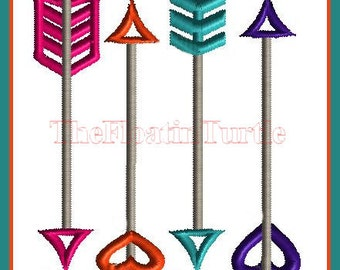 Arrow Embroidery Design Arrow Embellishment Embroidery Design Arrow Design Satin Stitch Embroidery Design Tribal Embroidery Design