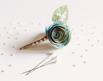 Atlas Paper Flower Buttonhole (Small)