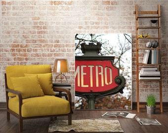 Paris, Vintage Metro, Livingroom, Decor, Photography, Fine Art Wall Print