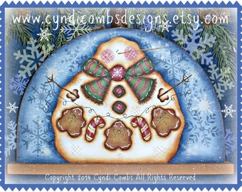 CC178 Snowie Loves Gingers - Painting E Pattern by Cyndi Combs
