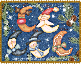 CC168 - Wynter Thyme Moon Ornaments Painting E Pattern
