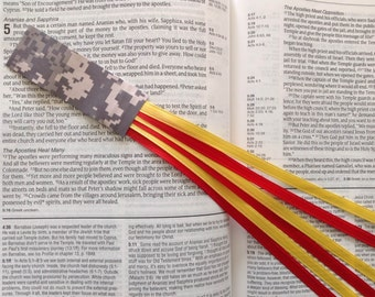 Limited Edition Military Series Bookmark 6 ribbon multi page for Bible, hymnal, hardcover books US MARINE CORPS handmade digital camo