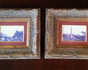 1980 Pair of John Richard Greenwood Asian Wall Decor Art Prints