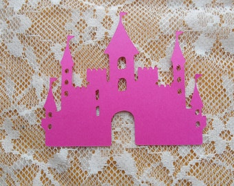 Princess Castle paper die cuts,birthday,wedding,anniversary,table decoration,confetti
