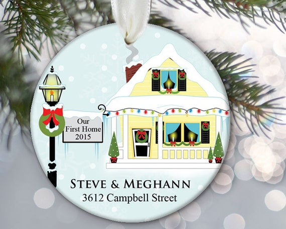 Our First Home Ornament Personalized First Home Christmas