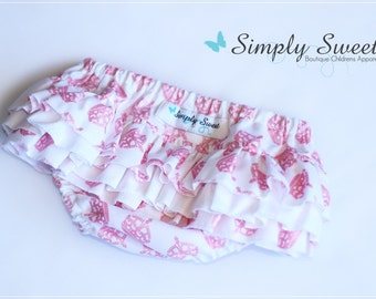 SALE ~ Ruffled Nappy Cover - Size 000