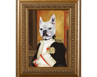 Dog Magnet, Frenchie Napoleon, French Bulldog, Refrigerator Magnet