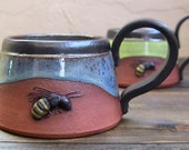 Bee Mug, Made to Order, One of a Kind Gift, Unique Coffee Mug, Custom Cup, Honey Bee