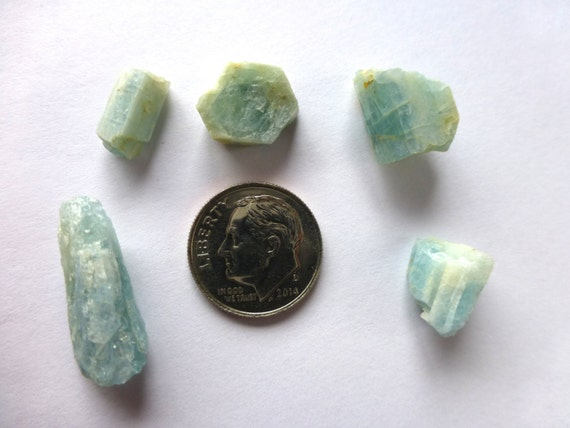 mt antero colorado aquamarine 5pc lot 36 50tcwt