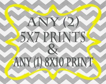 Any (2) 5x7 Prints AND Any (1) 8x10 Print - ANY prints from Rizzle And Rugee