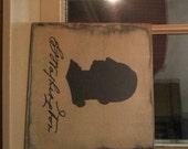 George Washington Silhouette,primitive,home decor, farmhouse
