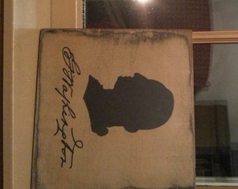George Washington Silhouette,primitive,home decor, farmhouse