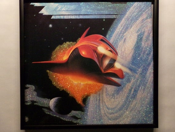 Glittered Record Album - ZZ Top - Afterburner