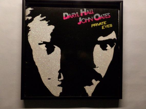 Glittered Record Album - Daryl Hall & John Oates - Private Eyes