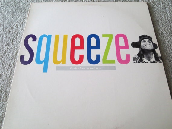 David Jones Personal Collection Record Album - Squeeze - Babylon And On