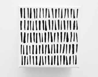 GRASS - 4 x 4 inch Canvas Small Modern Art Minimalist Painting Black and White Art Painting Small Art Minimalist Fine Art Canvas LYNDA BLACK
