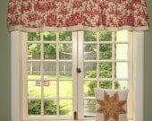 Cranberry Red Toile Waverly Valance