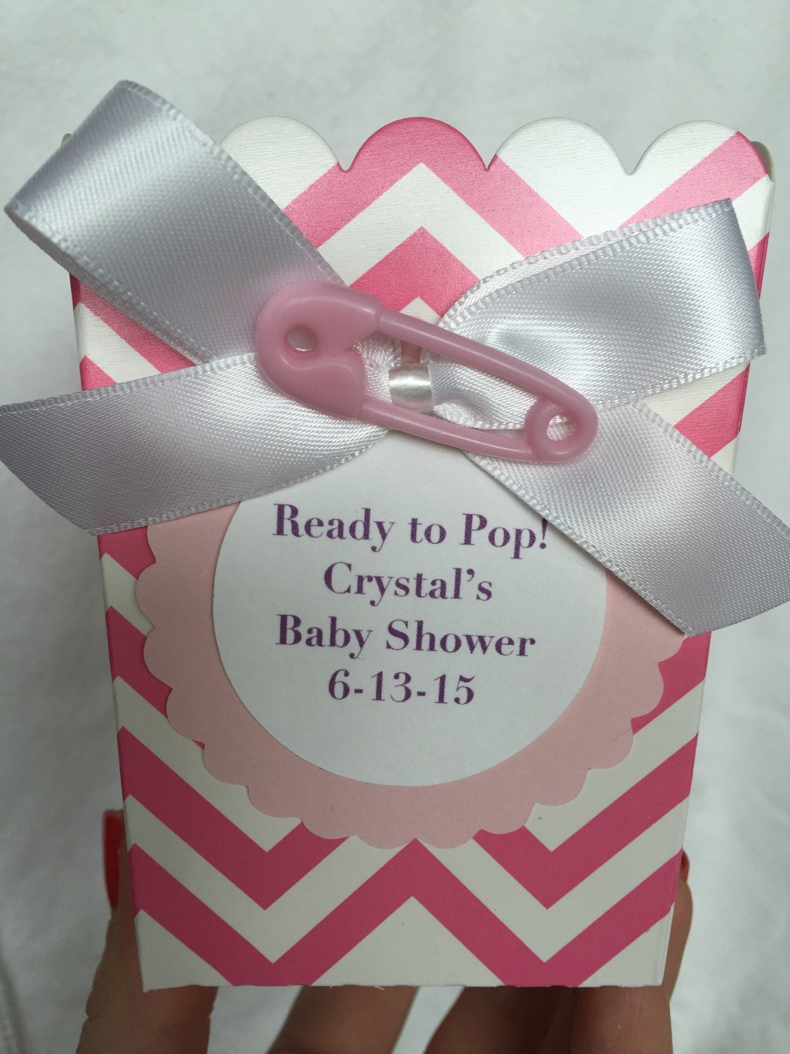 ready to pop baby shower favor popcorn boxes by kristinswhimsy