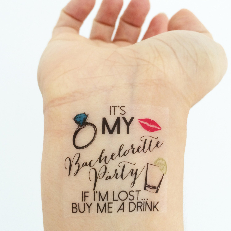 15 custom bachelorette party temporary tattoos for Bachelorette party tattoos