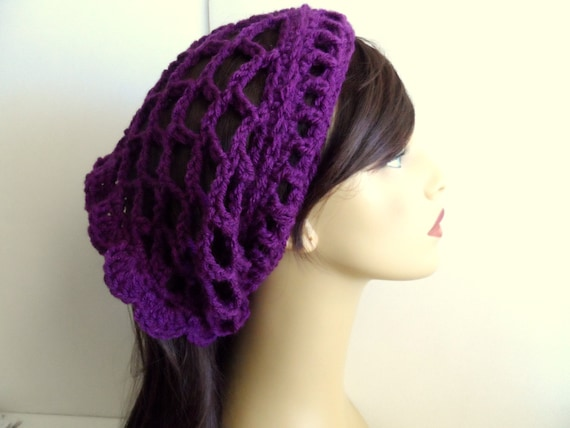 Purple crochet dreads band or dreads wrap for your long hair, curly ...