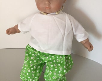 White Top and Cute Pants for Bitty Baby