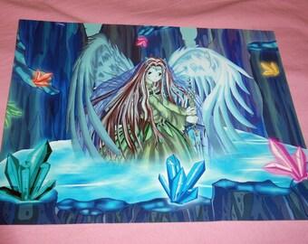 Angel In The Lake A5 Print