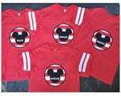 Mickey Mouse Disney Striped Sleeve Shirt