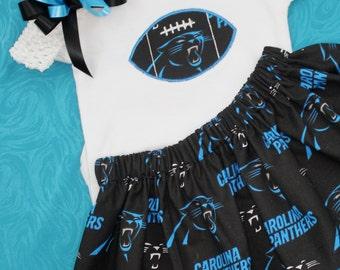 Carolina Panthers 3pc Girls Bodysuit set
