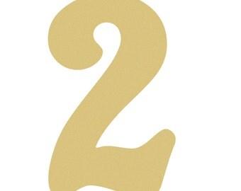 Unfinished Wooden Alphabet Letter, Wood Number, Beltorian NUMBERS
