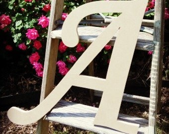 Unfinished Wooden Alphabet Letter, Wood Letter, Wall Decor, Monotype