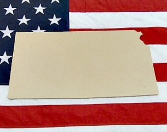 Kansas State Craft, Wooden Unfinished, Shape, Paintable,