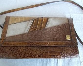 Vintage Morris Moskowitz Faux Croc style Handbag