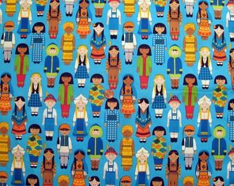 International Child print fabric - half yard x 1