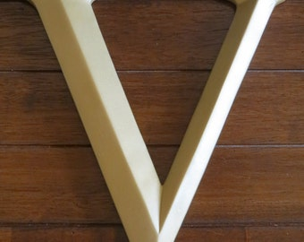 Letter V/ Pick Your Own Letter/ Wall Letter/ Antique Gold or Pick Your Color/ Wall Decor/Mantle Decor