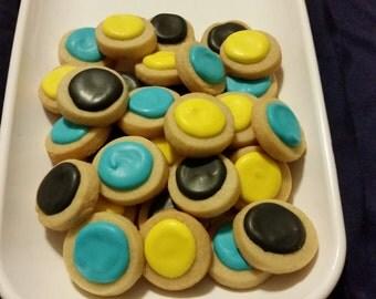 Mini Jasmine Round Button Cookies (4 dozen)