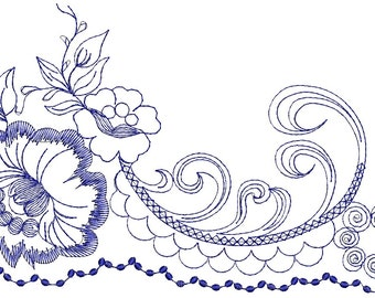 Border Embroidery Pattern , festoon - Machine Embroidery designs