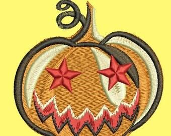 pumpkin Embroidery Design Machine Embroidery Design 4 x 4, 3*3 , 2*2 Instant Download