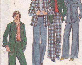 Butterick 4420  Vintage Pattern Mens Shirt, Jacket and Pants Size 40 UNCUT