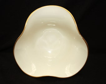 Vintage Lenox Cream and Gold Small Bowl
