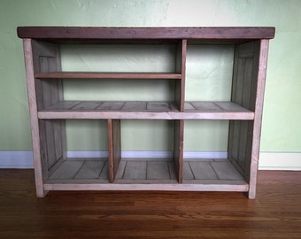 TEVÊ reclaimed distressed wood TV stand / media console