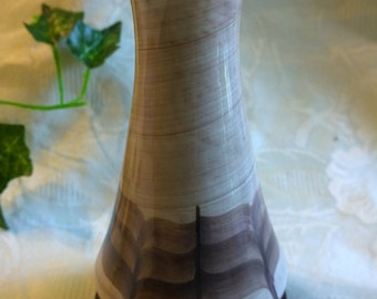 Jersey Pottery brown retro vase hand painted