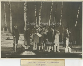 Moscow theater peasant scene antique photo Russia