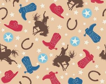 "Riley Blake Designs ""Rodeo Rider Flannel"" - Main Brown Flannel"