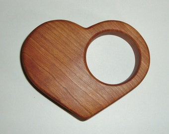 Cherry Heart Baby Rattle*** Teething and Grasping Toy*** Natural Organic Teether