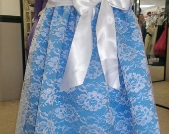 Lace flowergirl dress! 2-14 beautiful! Your color choice