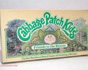 Cabbage Patch Kids Friends to the Rescue Board Game from Parker Brothers 1984 COMPLETE (read description)