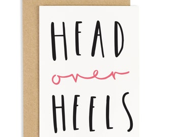 Head Over Heels Valentine's Day Card - Valentine's Card - CC25