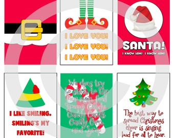 Elf Movie Digital Scrapbooking Journaling Cards - Christmas Buddy Quote Xmas Project Life Pocket Page Inserts - Printable - DIGITAL DOWNLOAD